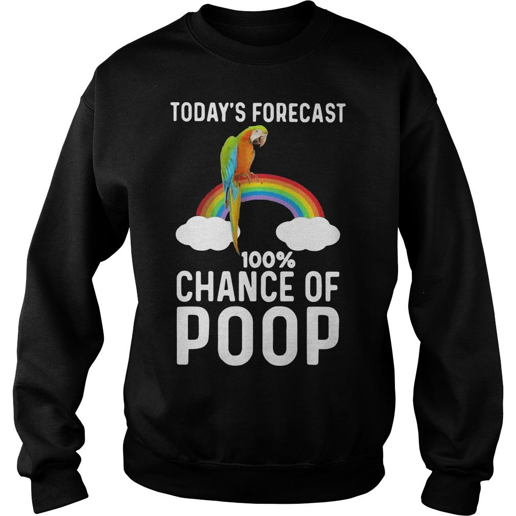 Rainbow Today's Forecast 100 Percent Chance Of Poop Sweater