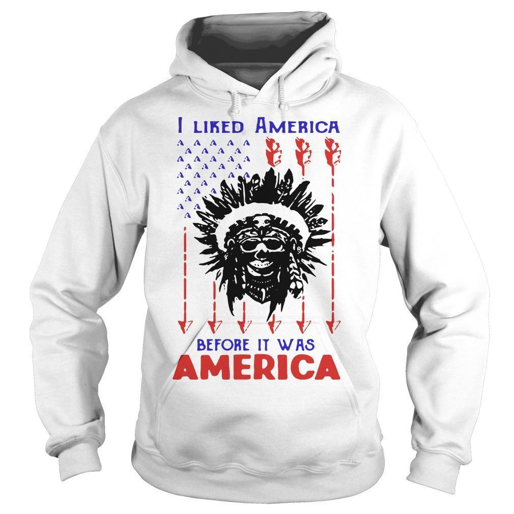 Skullcap I Liked America Before It Was America Hoodie
