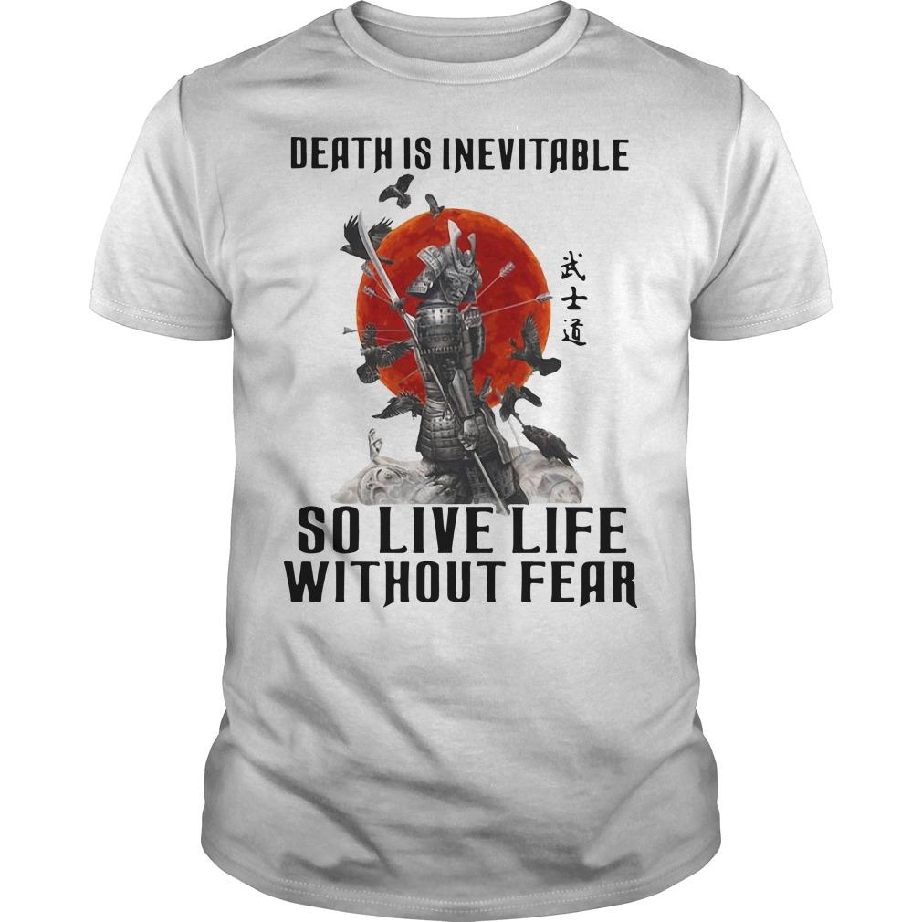 Sunset Death Is Inevitable So Live Life Without Fear Shirt