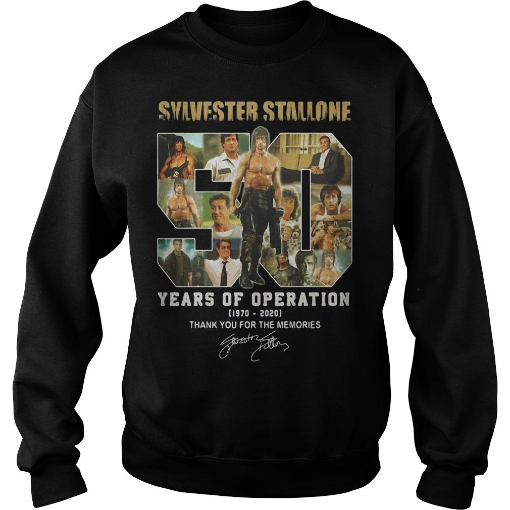 Sylvester Stallone 50 Years Of Operation Thank You For The Memories Sweater