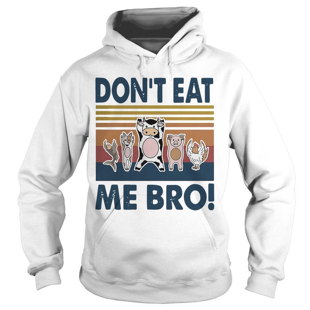 Vintage Animal Don't Eat Me Bro Hoodie