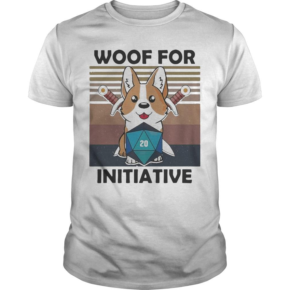 Vintage Baby Corgi Dungeon Woof For Initiative Shirt