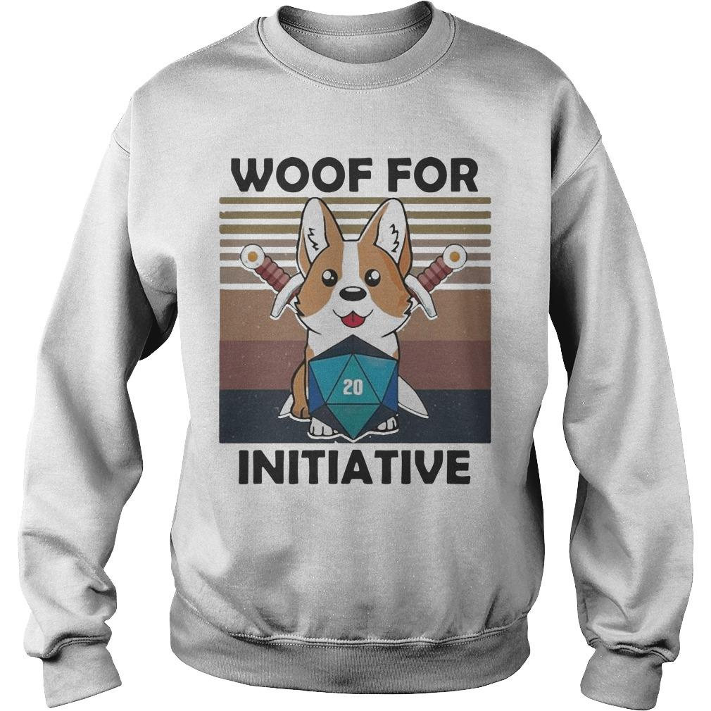 Vintage Baby Corgi Dungeon Woof For Initiative Sweater