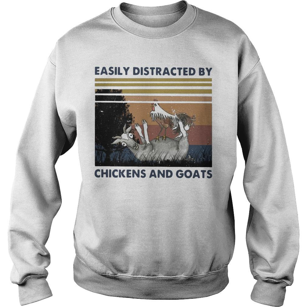 Vintage Easily Distracted By Chickens And Goats Sweater