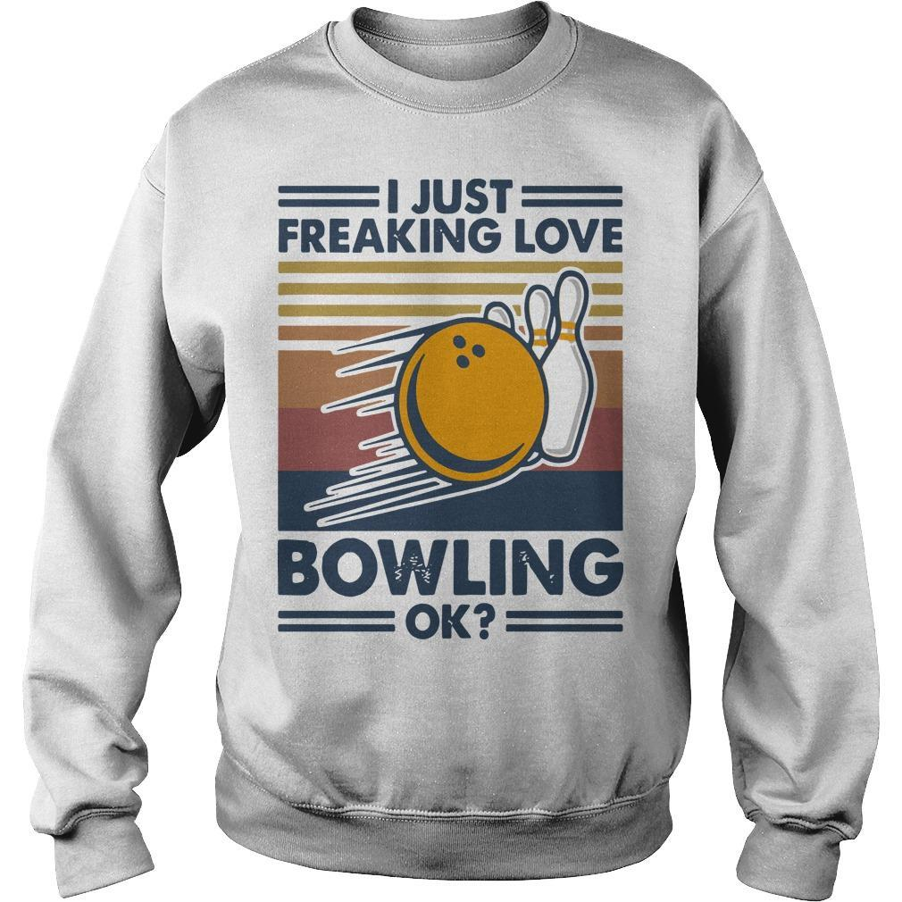 Vintage I Just Freaking Love Bowling Ok Sweater
