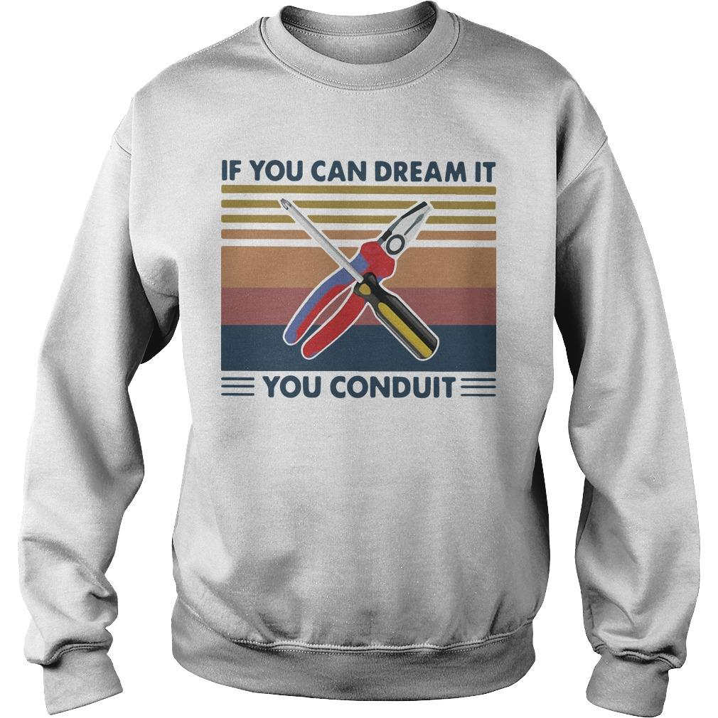 Vintage If You Can Dream It You Conduit Sweater