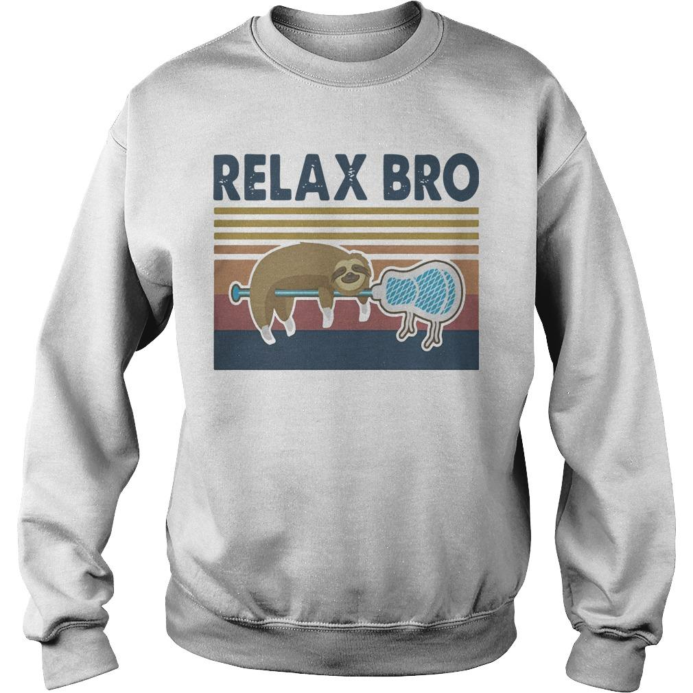 Vintage Lacrosse Sloth Relax Bro Sweater