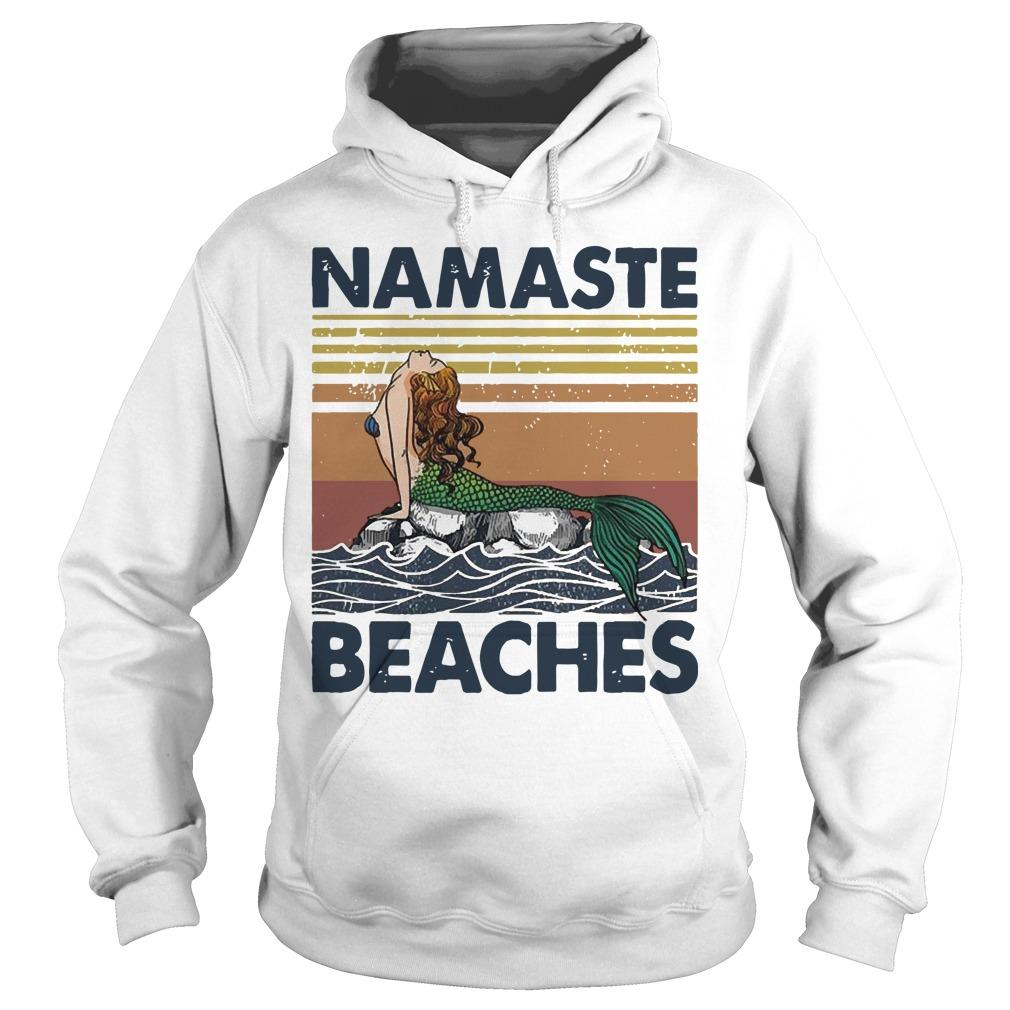 Vintage Mermaid Namaste Beaches Hoodie