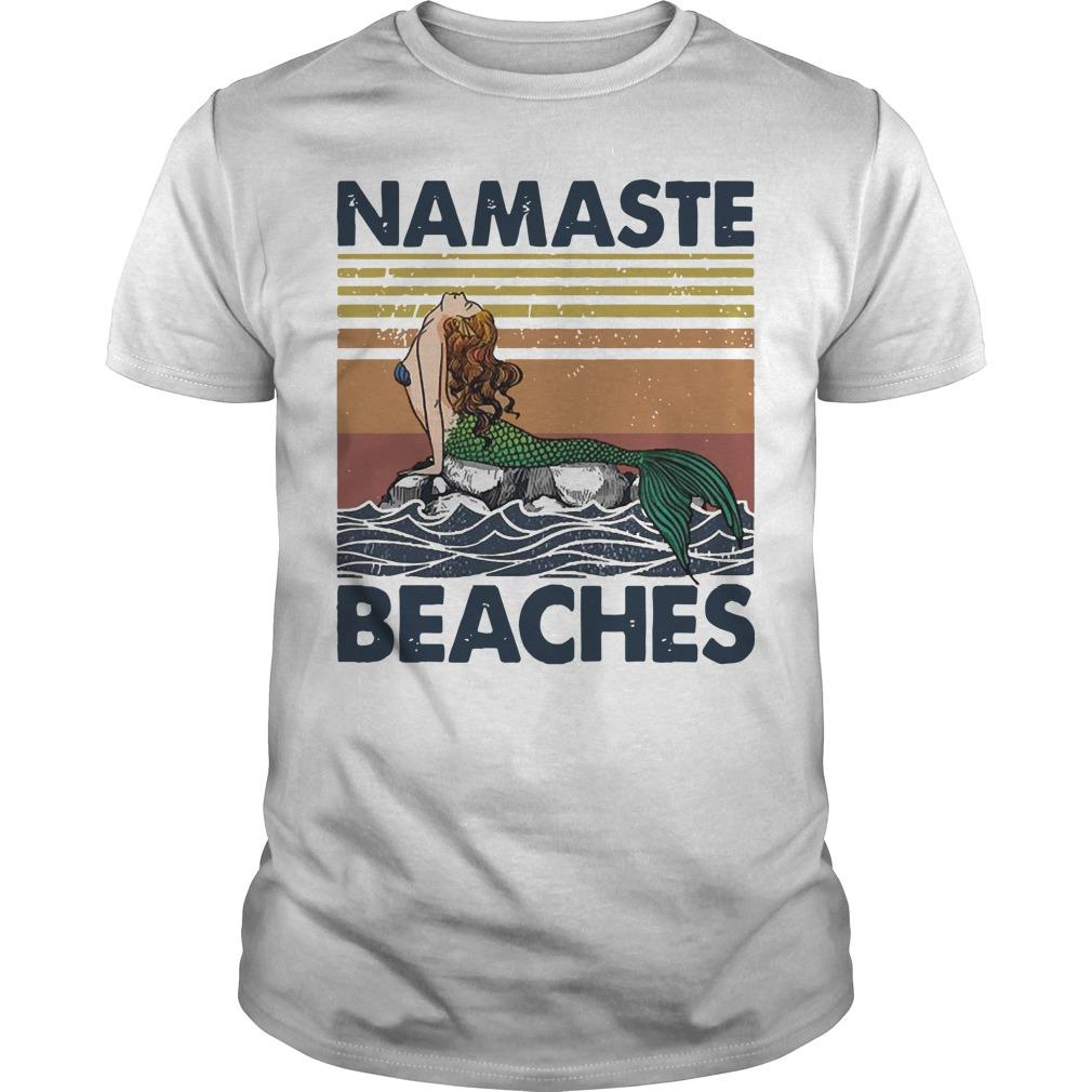 Vintage Mermaid Namaste Beaches Shirt