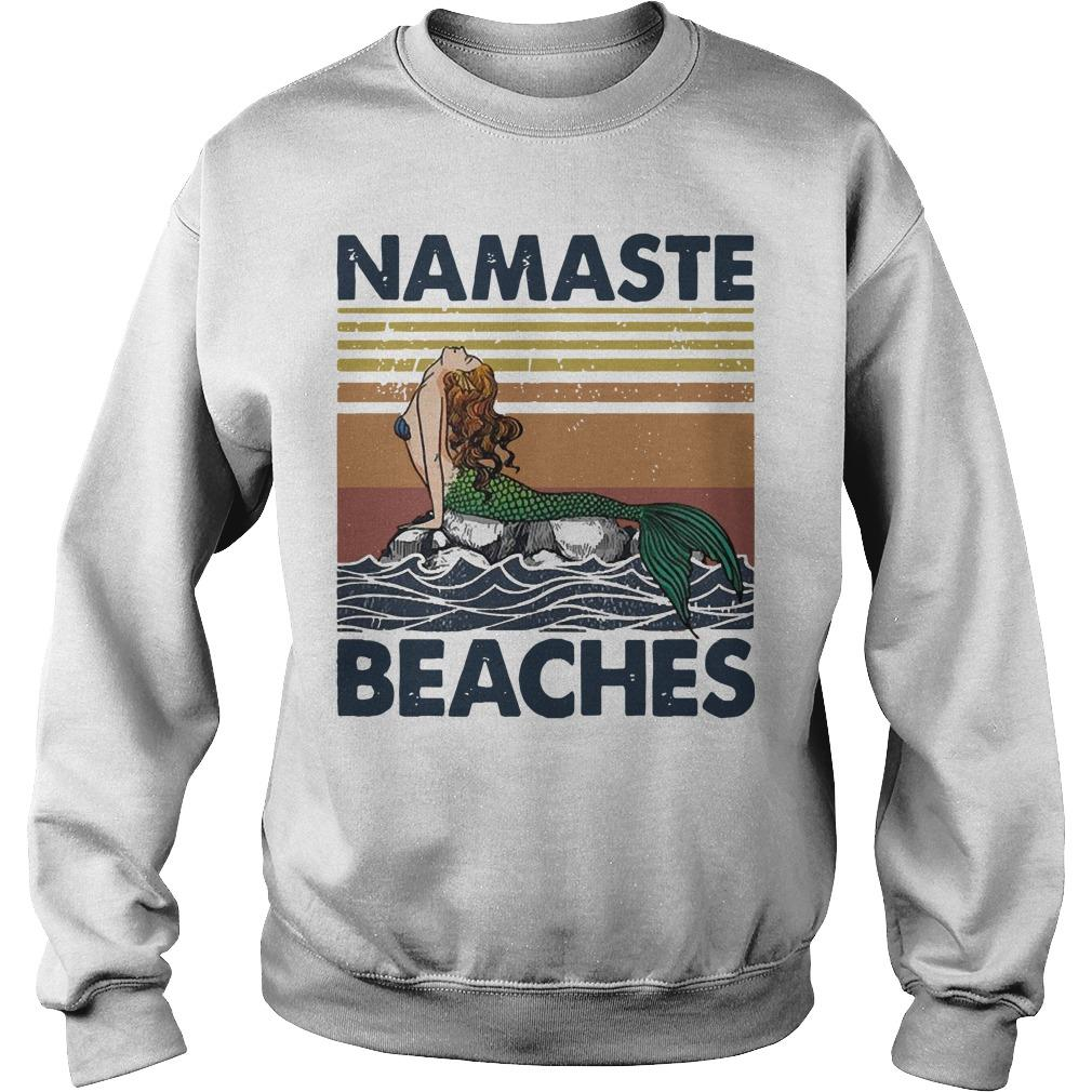Vintage Mermaid Namaste Beaches Sweater