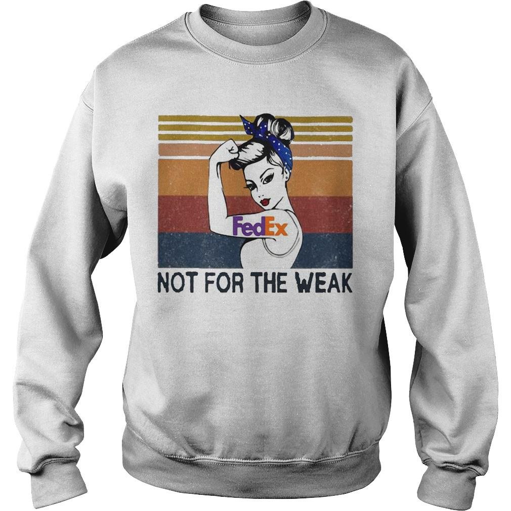 Vintage Strong Woman Tattoos Fedex Not For The Weak Sweater