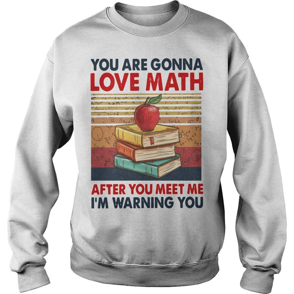 Vintage You Are Gonna Love Math After You Meet Me I'm Warning You Sweater