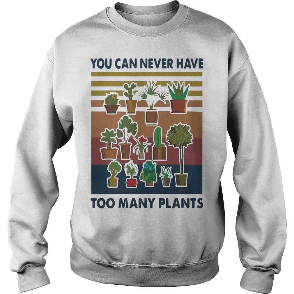 Vintage You Can Never Have Too Many Plants Sweater