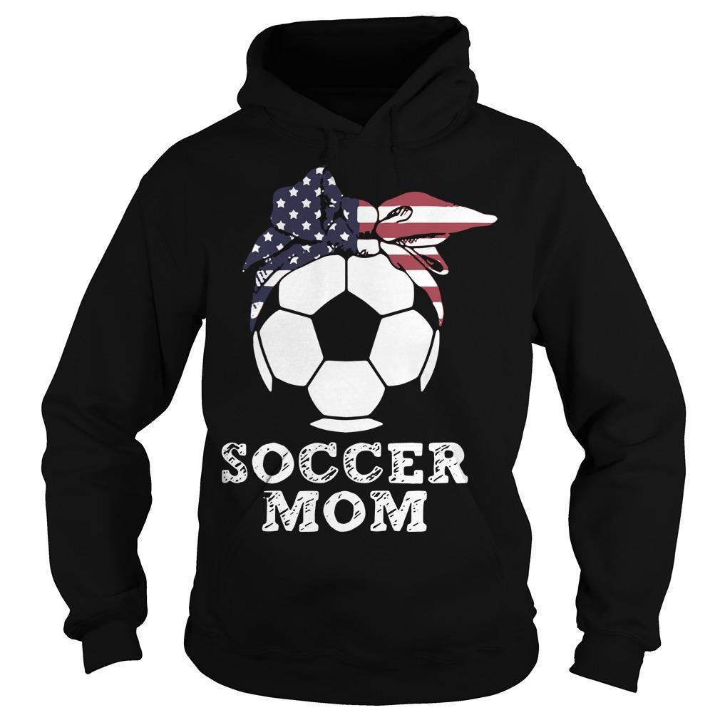 American Flag Independence Day Soccer Mom Hoodie