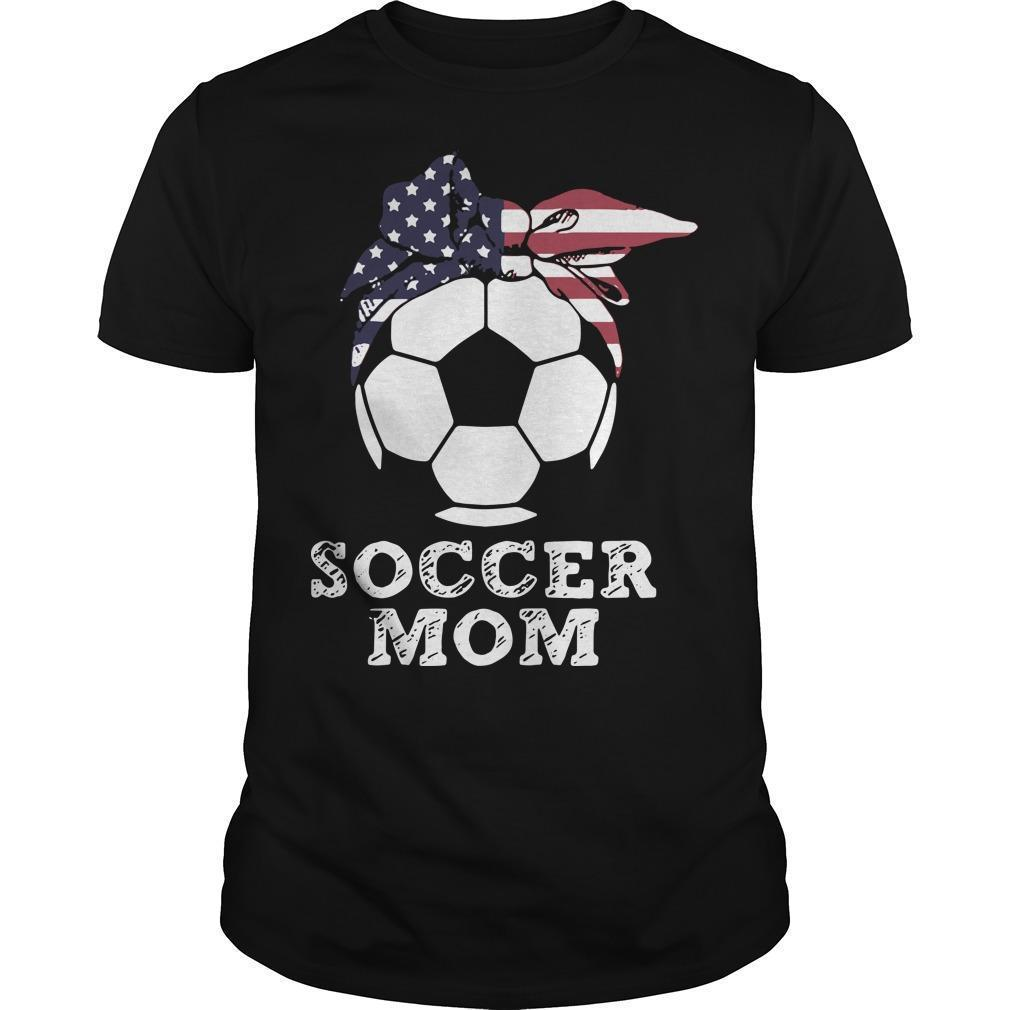 American Flag Independence Day Soccer Mom Shirt