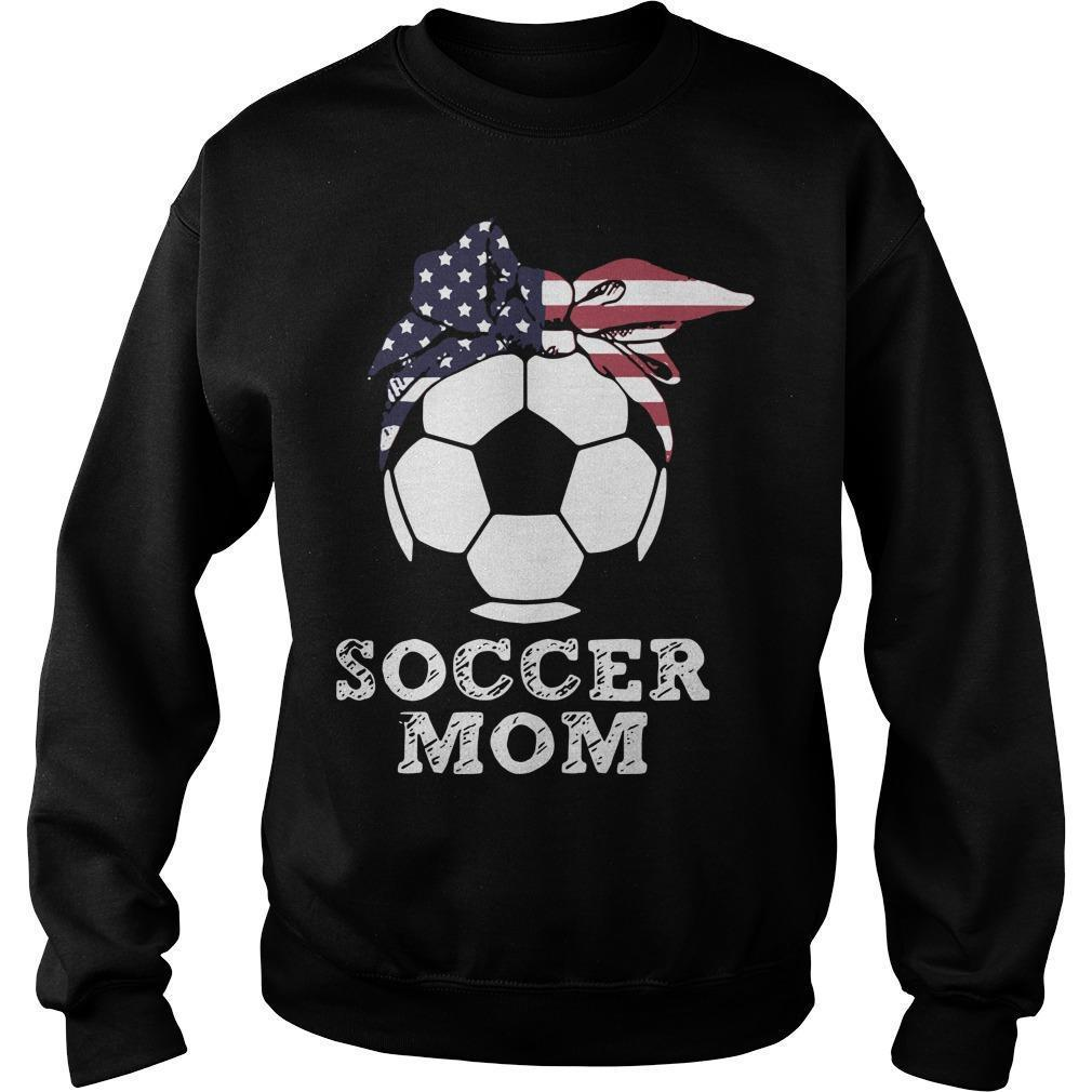 American Flag Independence Day Soccer Mom Sweater
