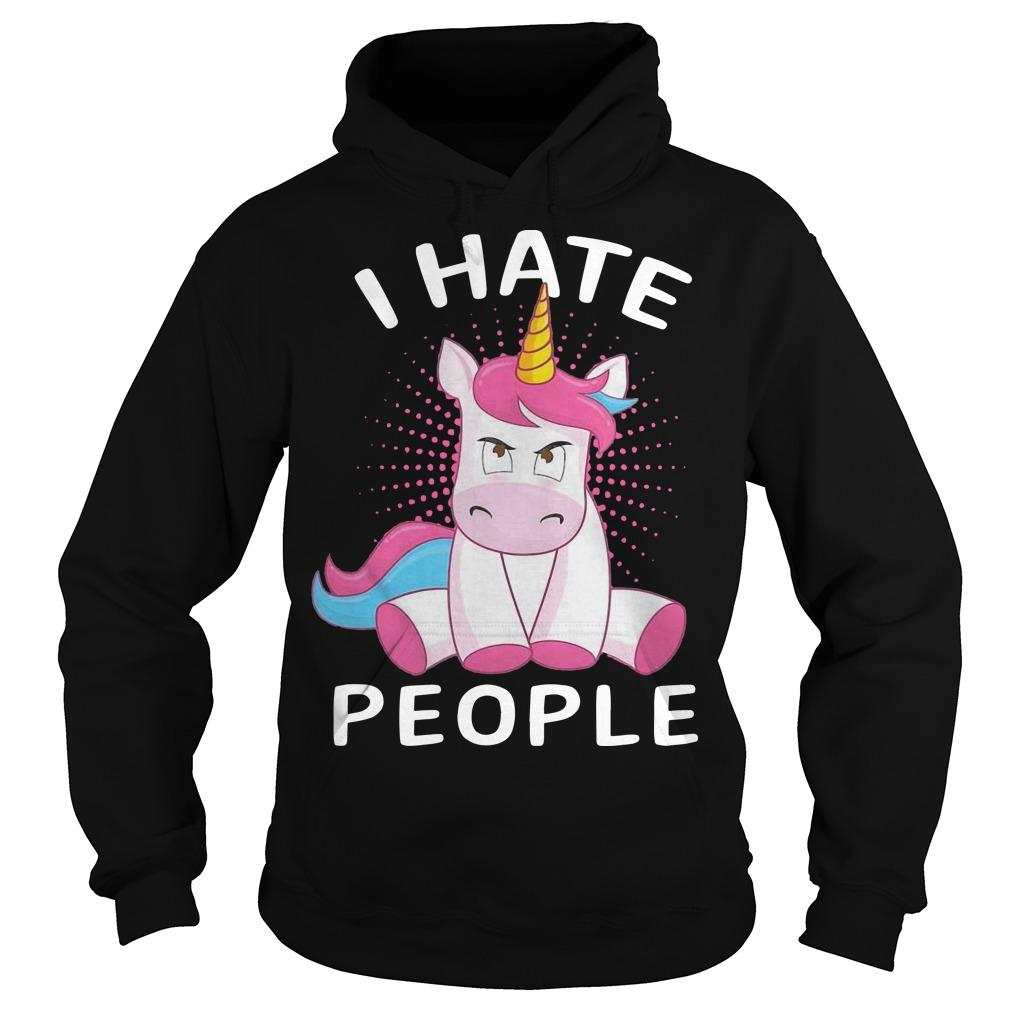 Baby Unicorn I Hate People Hoodie