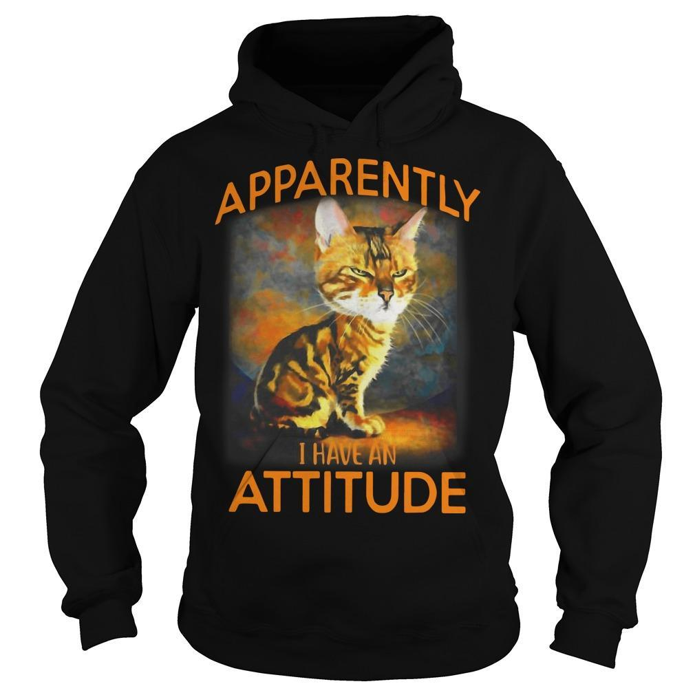 Cat Apparently I Have An Attitude Hoodie