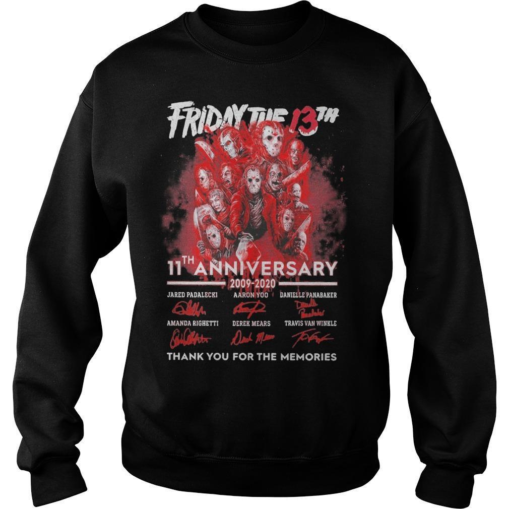 Friday The 13th 11th Anniversary 2009 2020 Thank You For The Memories Sweater