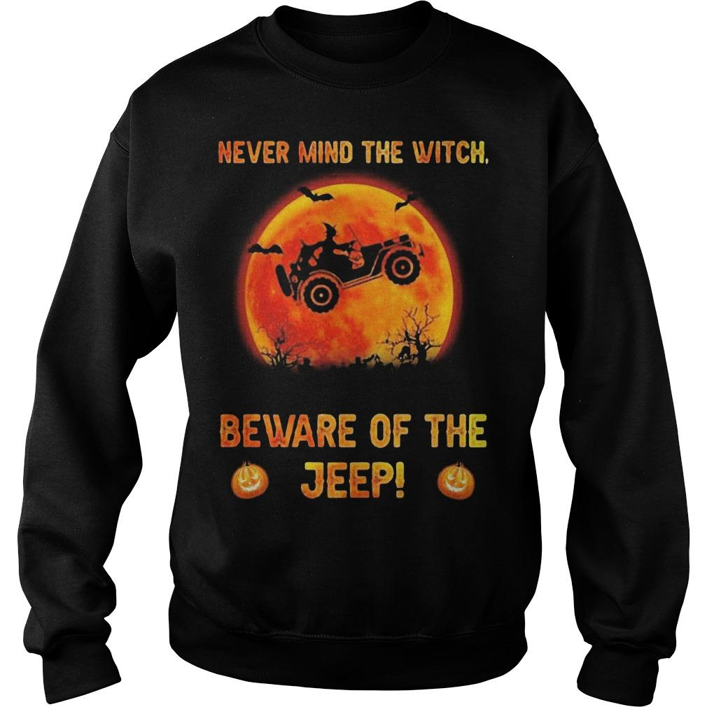 Halloween Never Mind The Witch Beware Of The Jeep Sweater