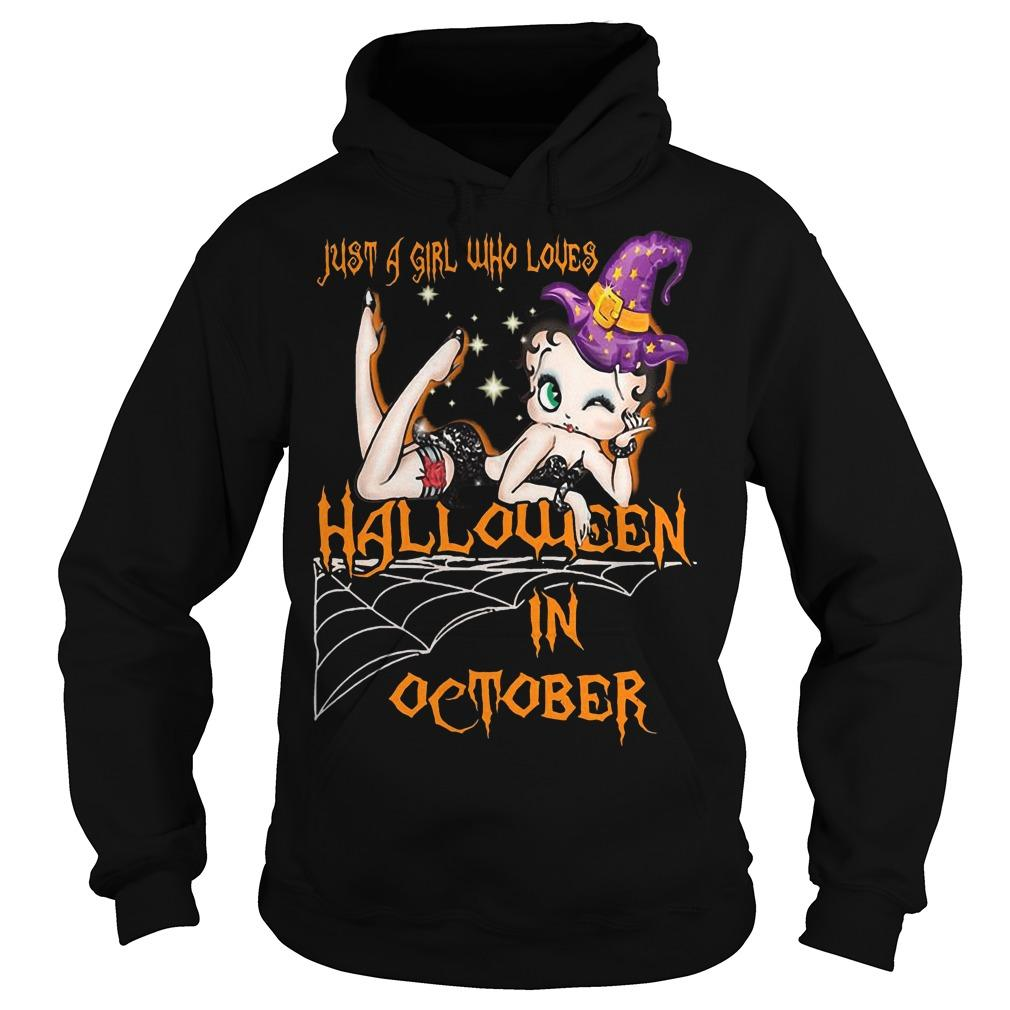Just A Girl Who Loves Halloween In October Hoodie
