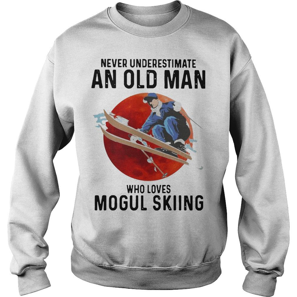 Never Underestimate An Old Man Who Loves Mogul Skiing Sweater