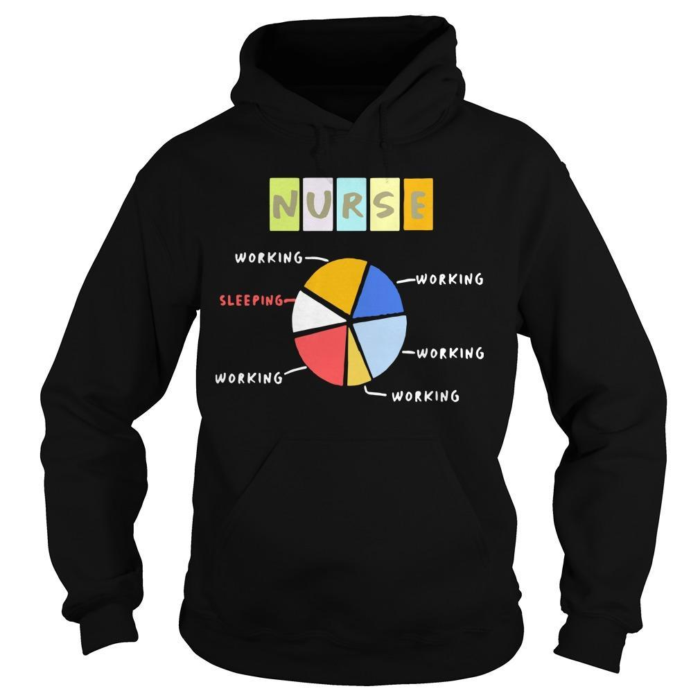 Nurse Working Sleeping Working And Working Hoodie