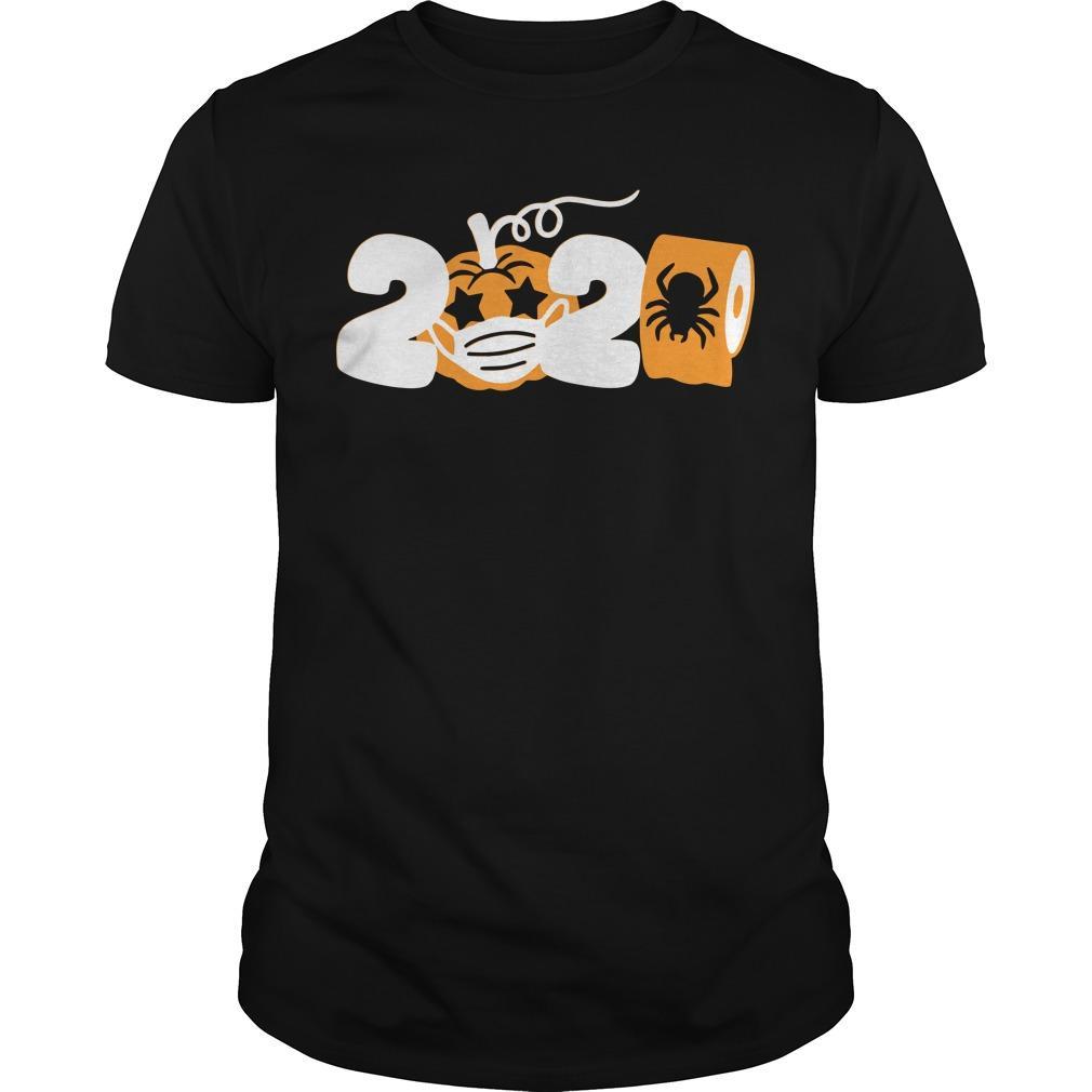 Pumpkin Face Mask Toilet Paper Halloween 2020 Shirt