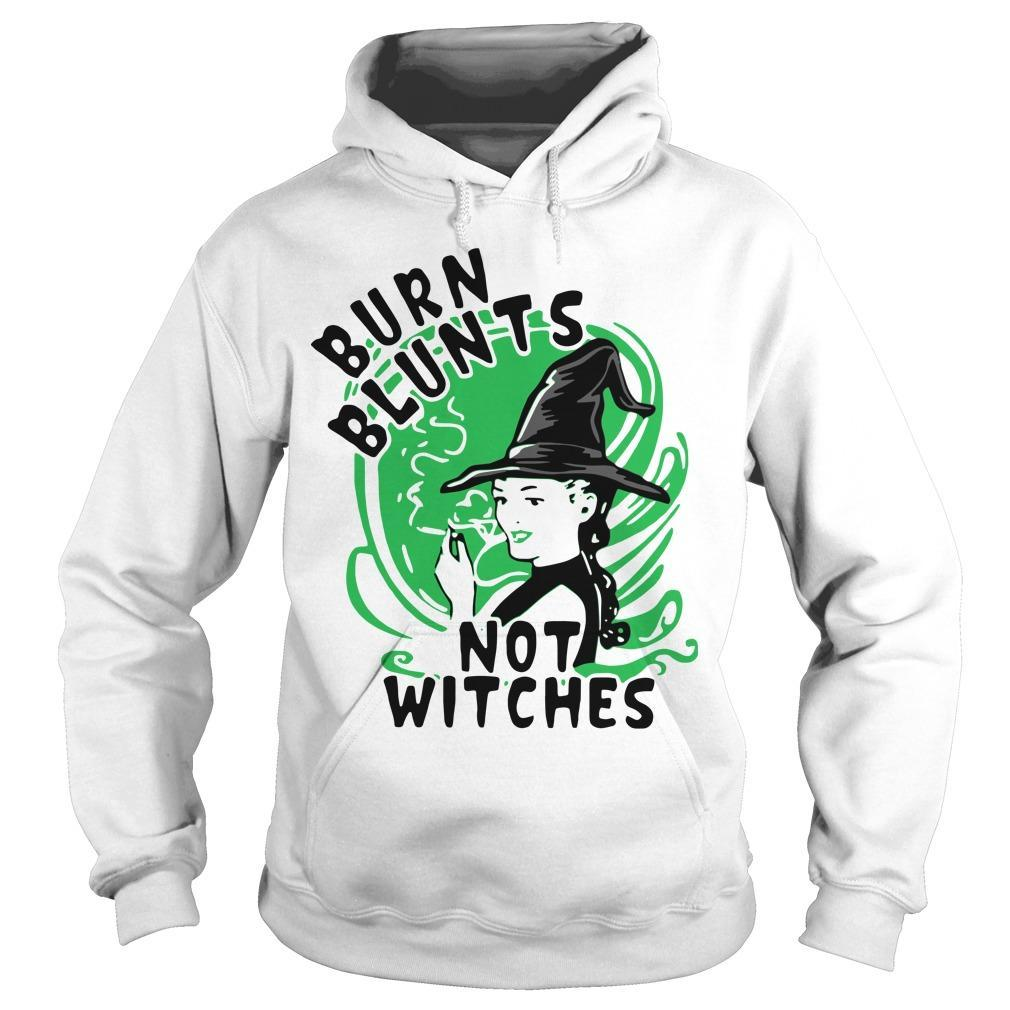 Smoking Weed Burn Blunts Not Witches Hoodie