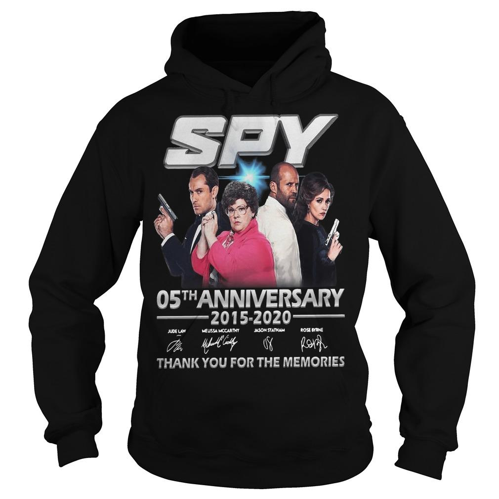 Spy 05th Anniversary 2015 2020 Thank You For The Memories Signatures Hoodie