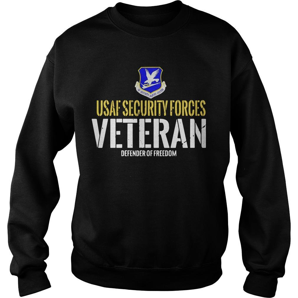 Usaf Security Forces Veteran Defender Of Freedom Sweater