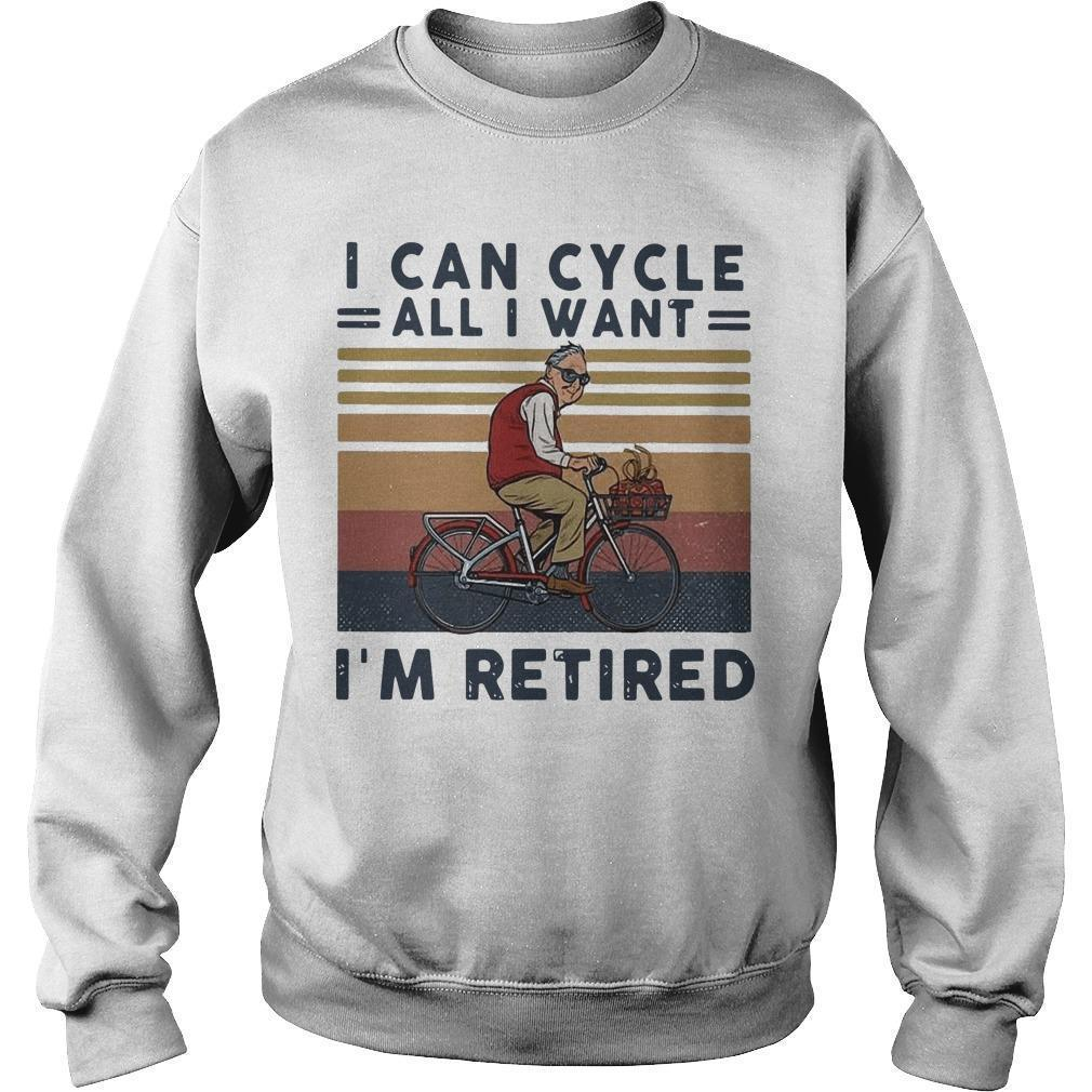 Vintage I Can Cycle All I Want I'm Retired Sweater