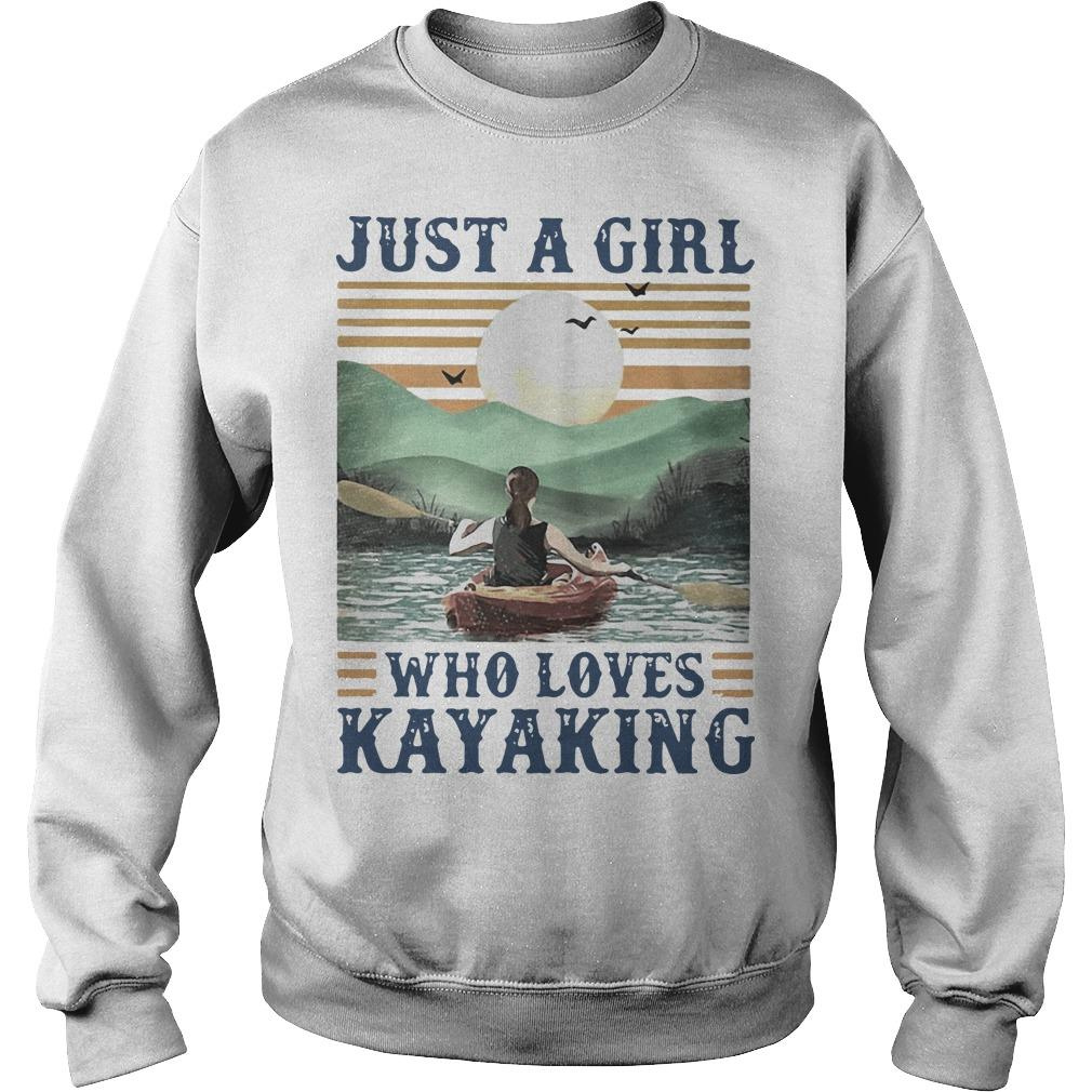 Vintage Just A Girl Who Loves Kayaking Sweater