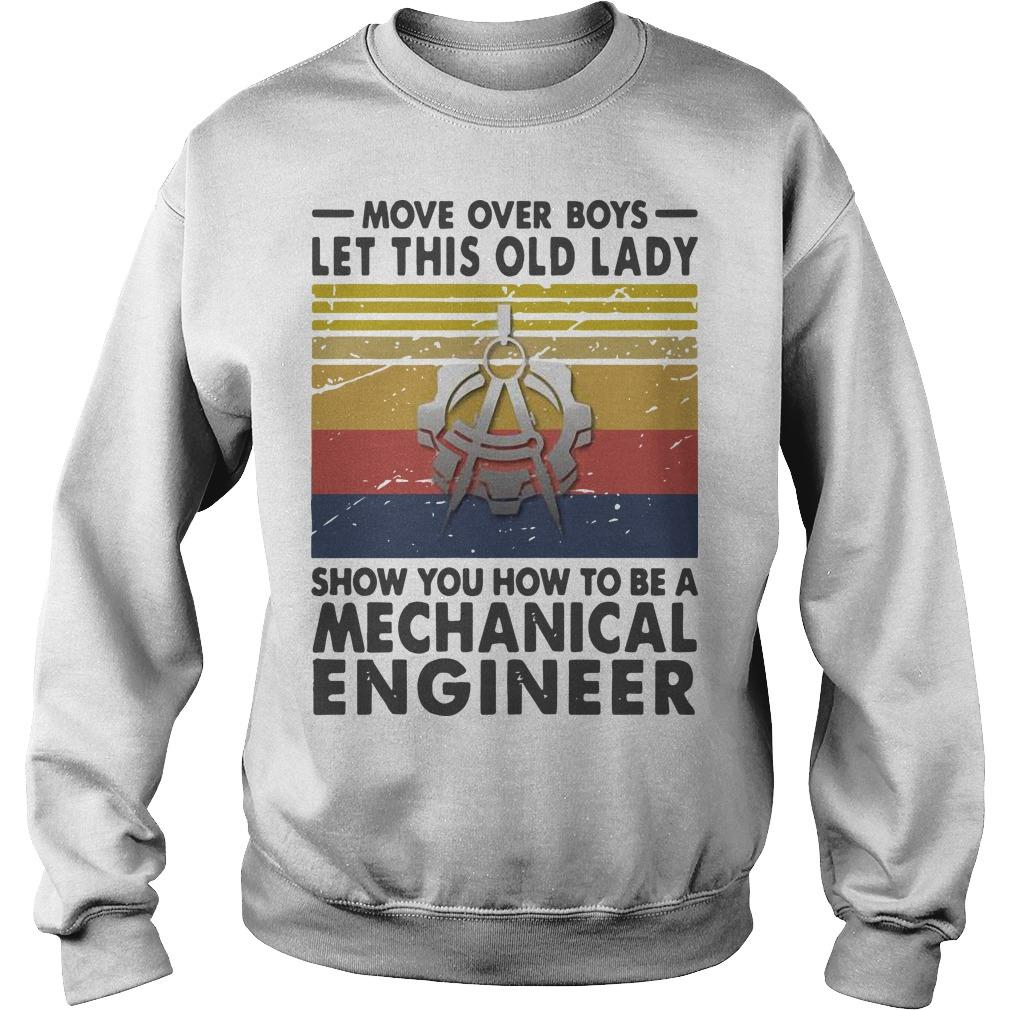 Vintage Let This Old Lady Show You How To Be A Mechanical Engineer Sweater