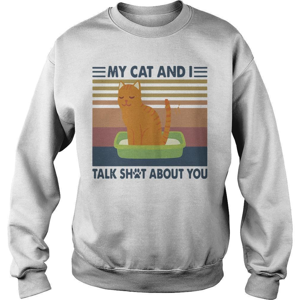 Vintage My Cat And I Talk Shot About You Sweater