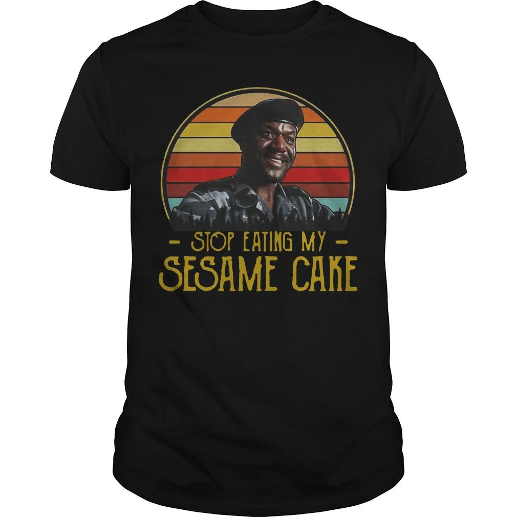 Vintage Stop Eating My Sesame Cake Shirt