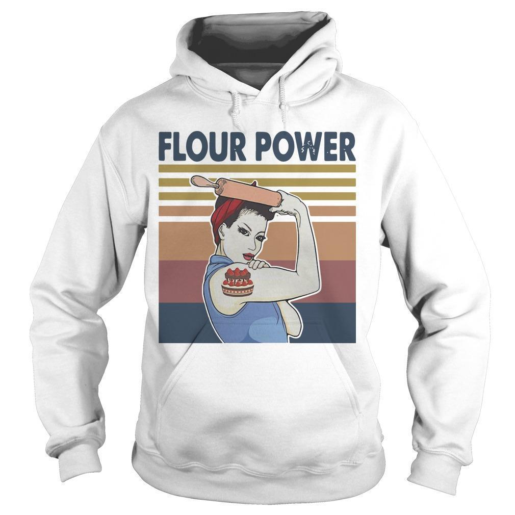 Vintage Strong Woman Cake Flour Power Hoodie