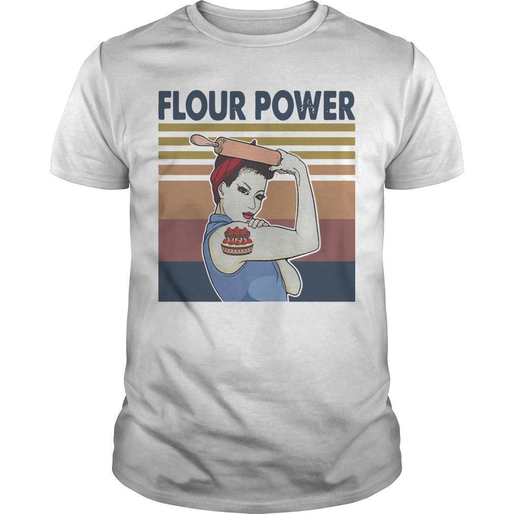 Vintage Strong Woman Cake Flour Power Shirt