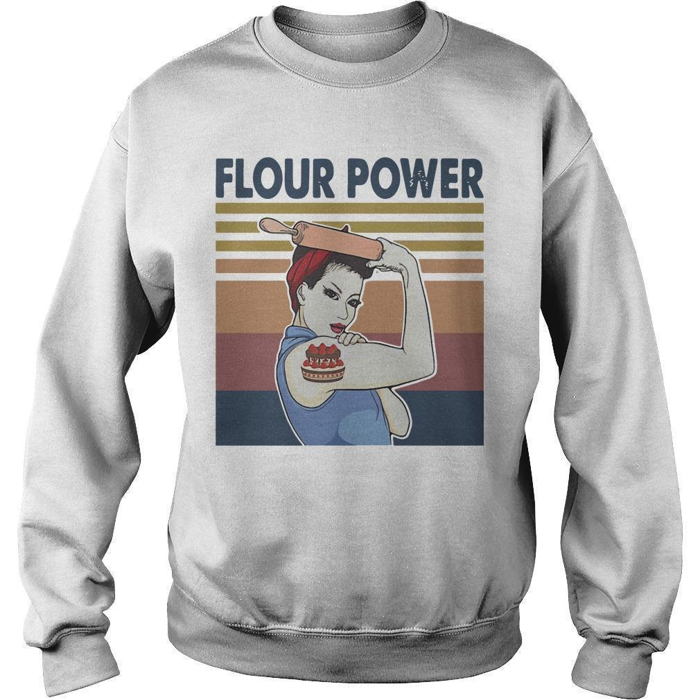 Vintage Strong Woman Cake Flour Power Sweater