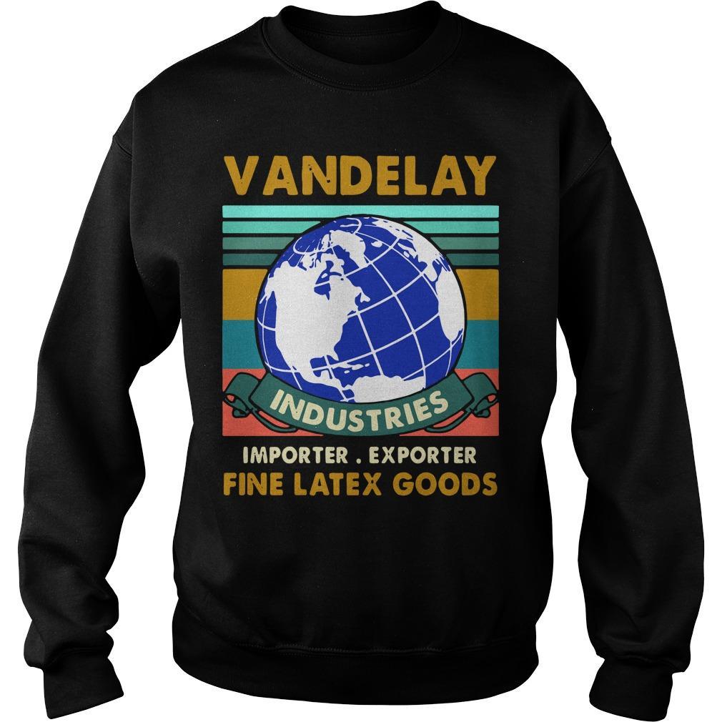 Vintage Vandelay Industries Importer Exporter Fine Latex Goods Sweater