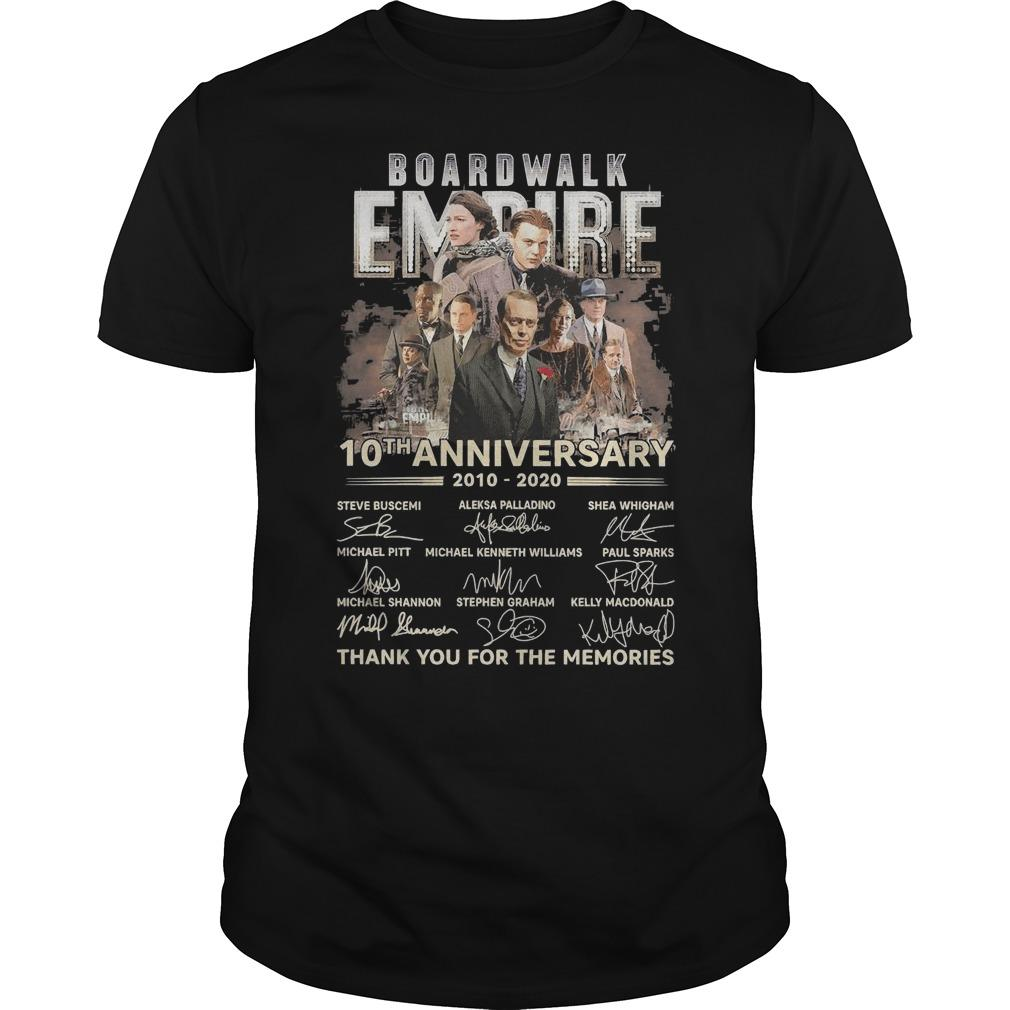 Boardwalk Empire 10th Anniversary Thank You For The Memories Signatures Shirt