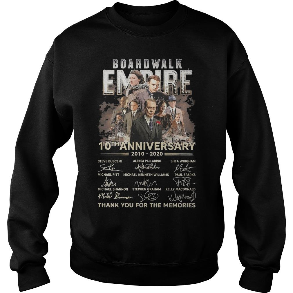 Boardwalk Empire 10th Anniversary Thank You For The Memories Signatures Sweater