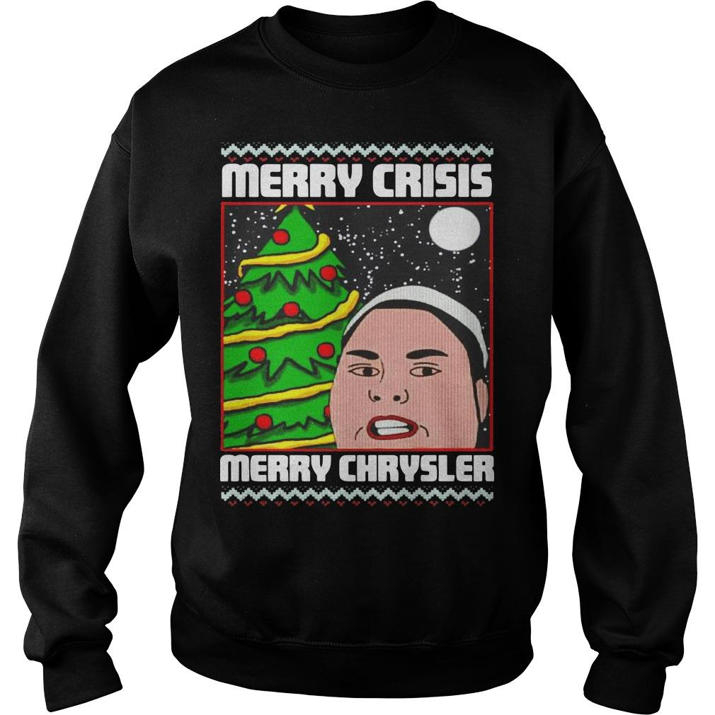 Christmas Merry Crisis Merry Chrysler Sweater