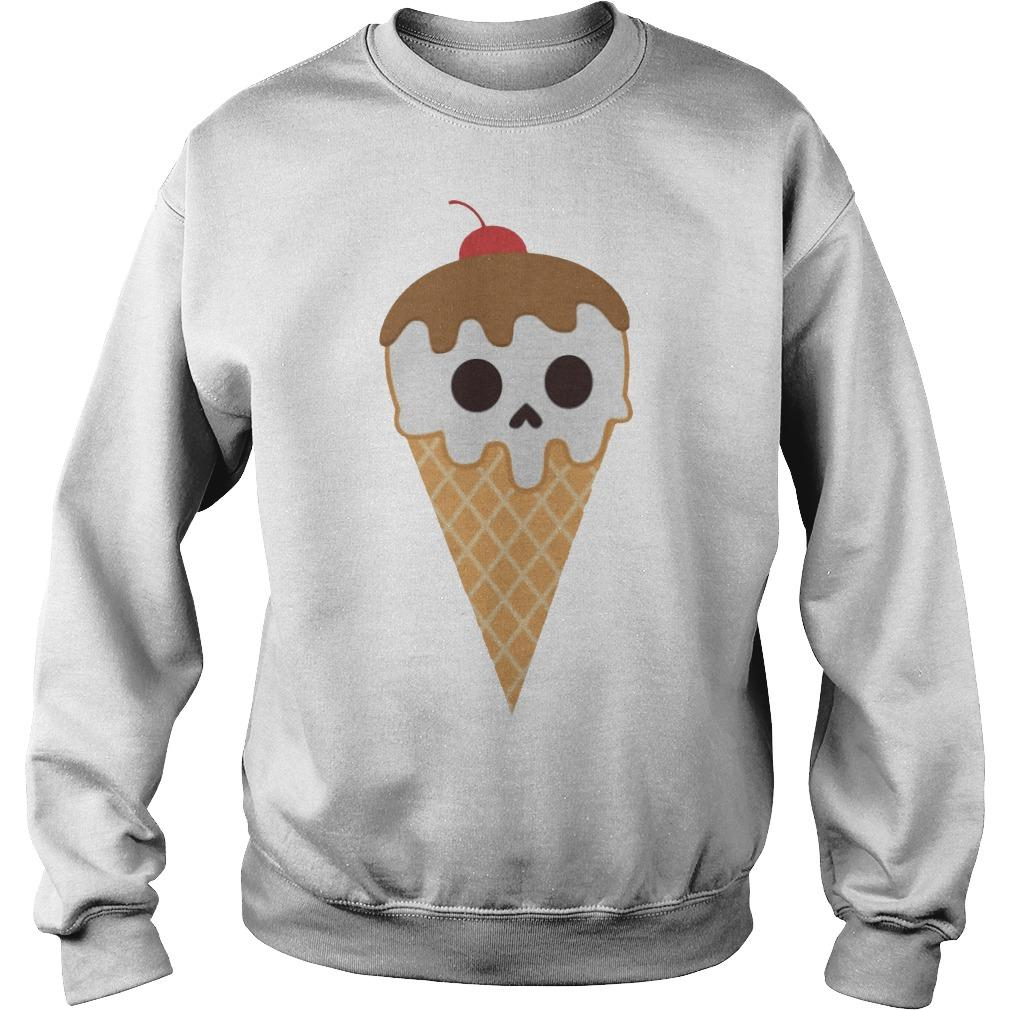 Cream Cones Dia De Los Muertos Day Of The Dead Sweater