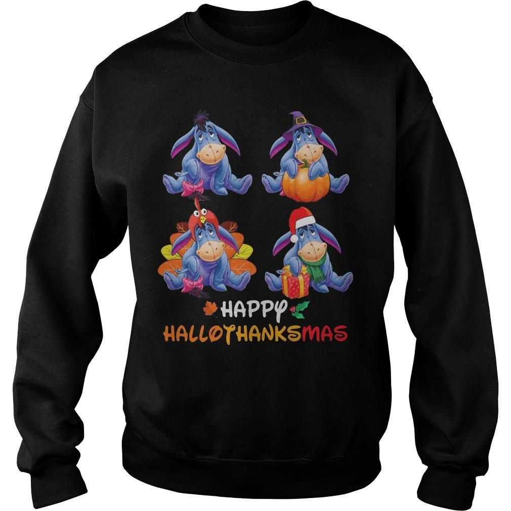 Eeyore Happy Hallothanksmas Sweater