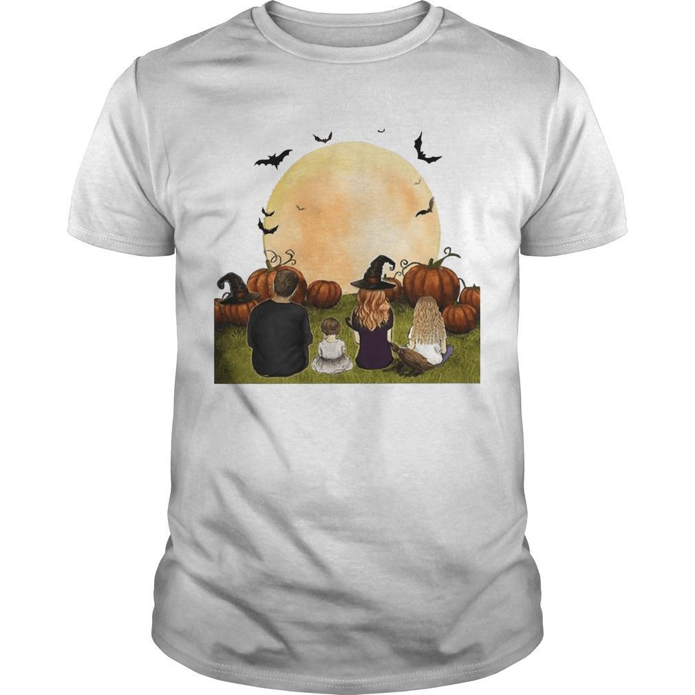 Family Members Framed Canvas Halloween Shirt