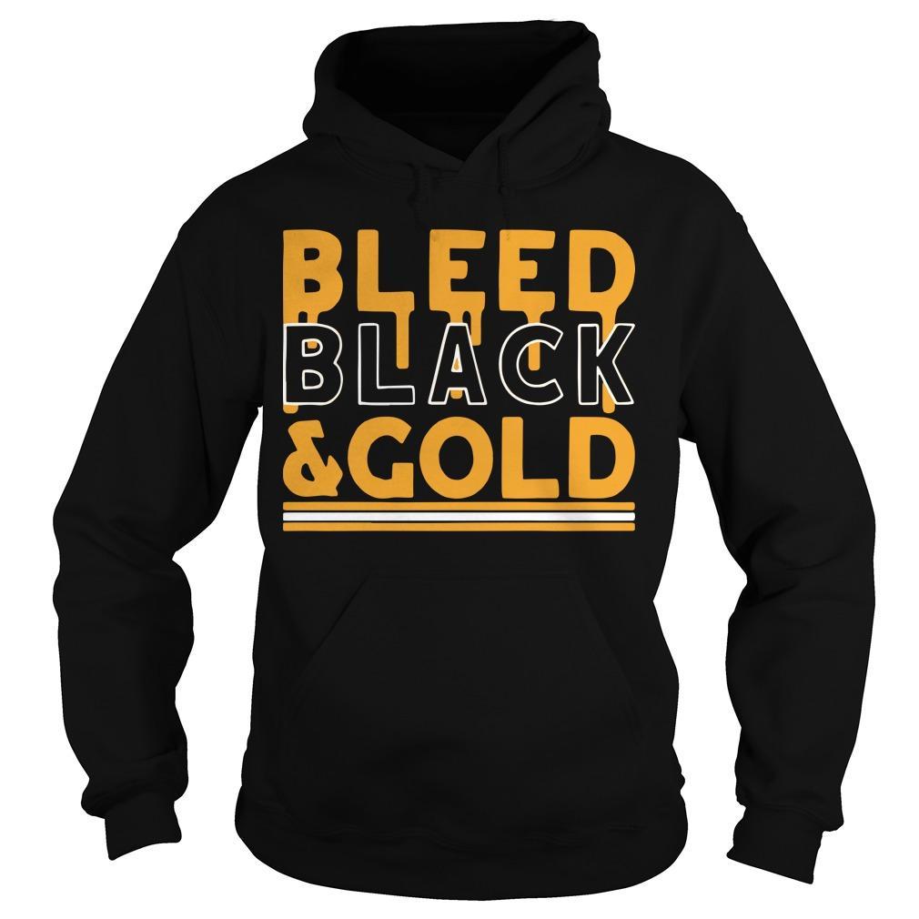 Football Bleed Black And Gold Hoodie