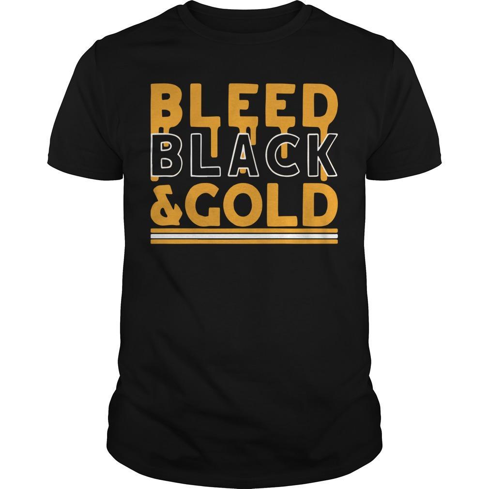 Football Bleed Black And Gold Shirt