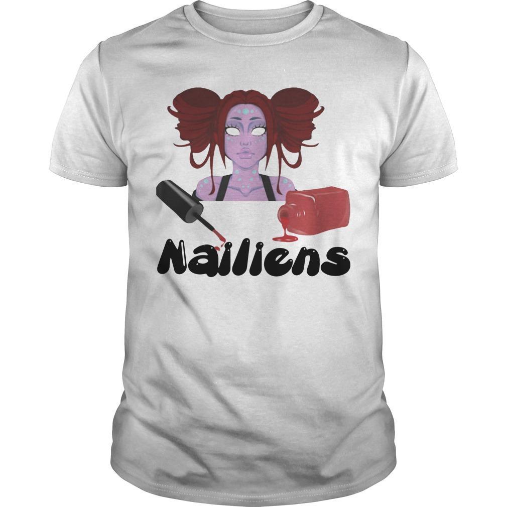 Halloween Girl Happy Nailiens Shirt