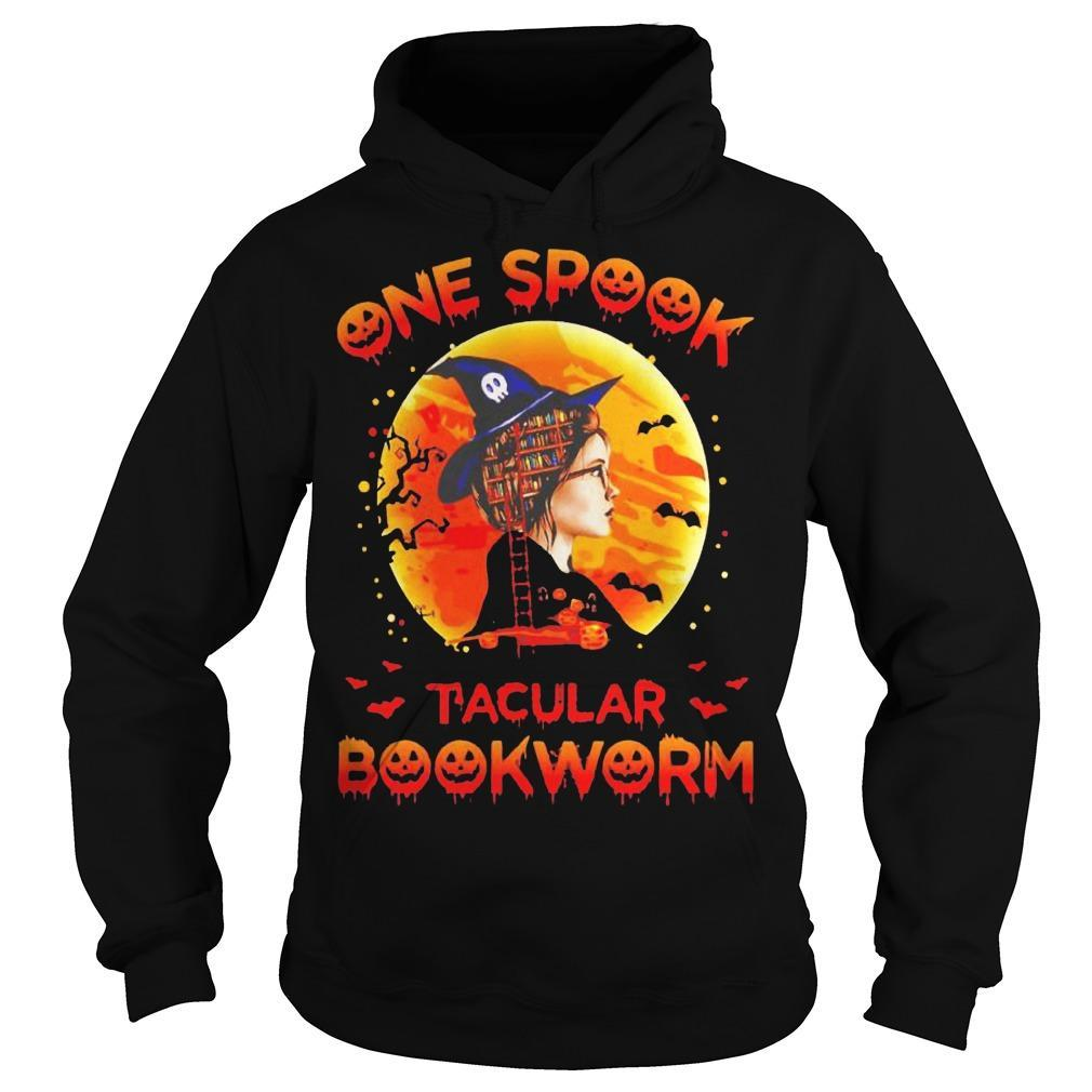 Halloween Girl Witch One Spook Tacular Bookworm Hoodie